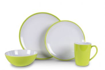 Kampa Dometic Citrus Green Summer 16 Piece Melamine Set